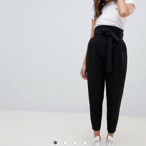 ASOS design super high rise black balloon pants 4